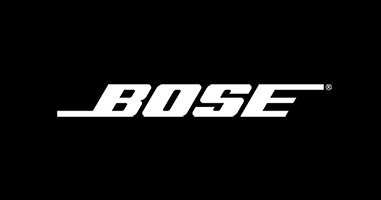 Bose logo white on black